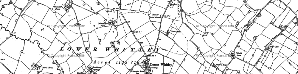 Old map of Whitley Brook in 1879