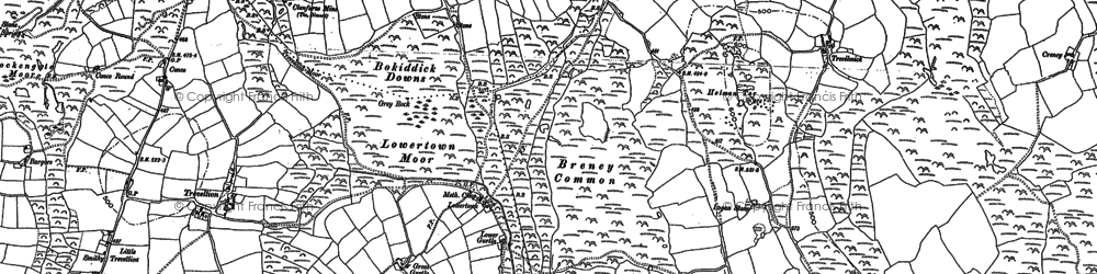 Old map of Lowertown in 1881