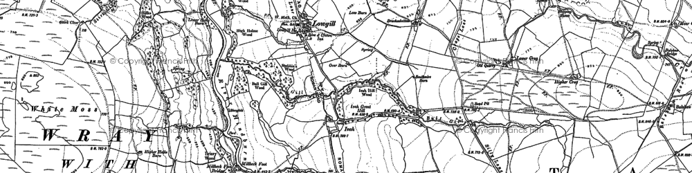 Old map of Aikengill in 1910