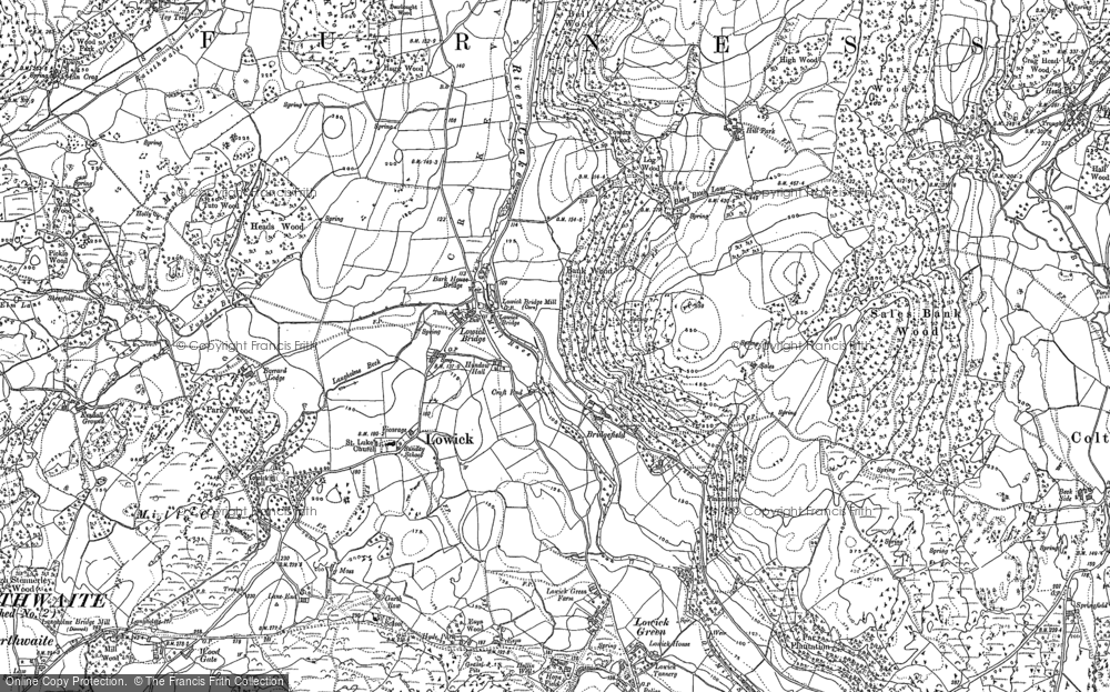 Old Map of Historic Map covering Wood Gate in 1911
