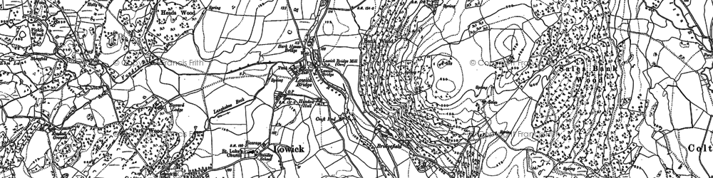 Old map of Wood Gate in 1911