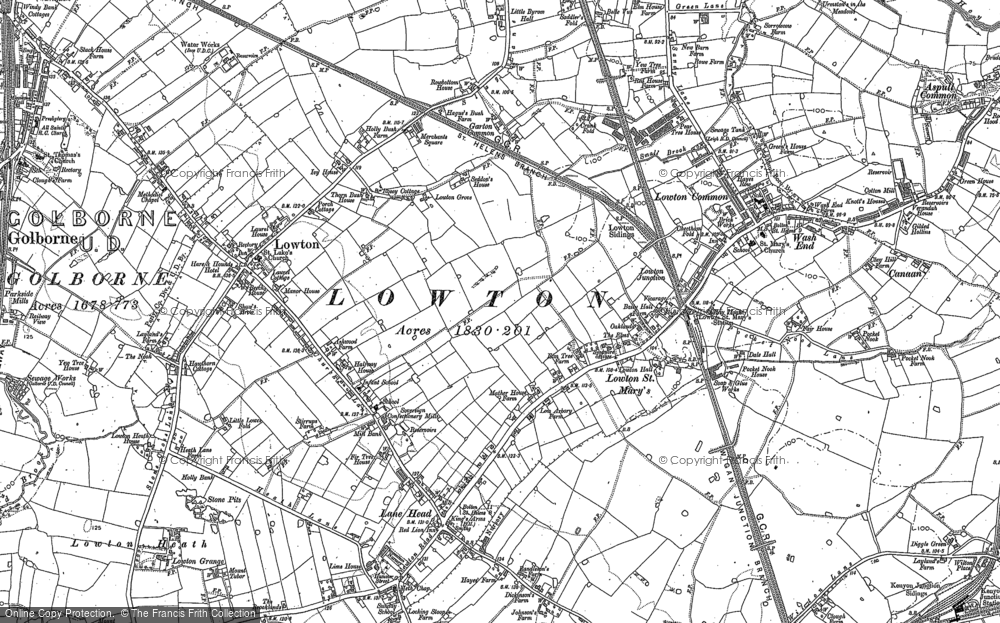 Old Map of Historic Map covering Aspull Common in 1892