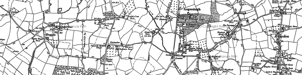 Old map of Leigh Hill in 1903