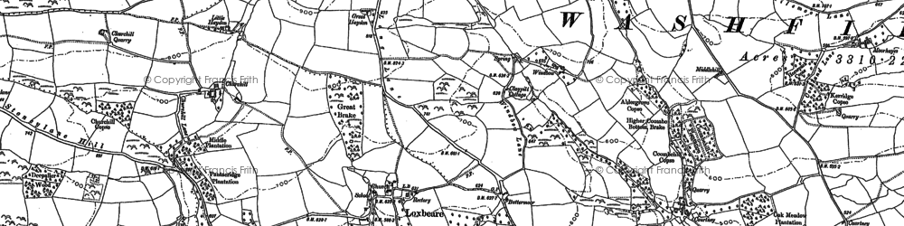 Old map of Windbow in 1887