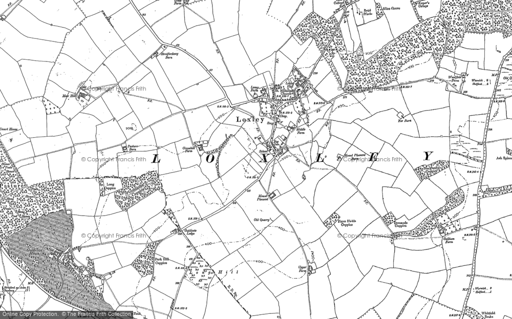 Old Map of Historic Map covering Alveston Pastures in 1883
