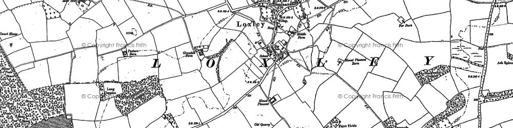 Old map of Alveston Pastures in 1883