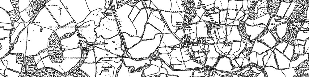 Old map of Loxwood in 1910