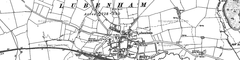 Old map of Lubenham in 1899