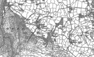 Old Map of Luccombe, 1902