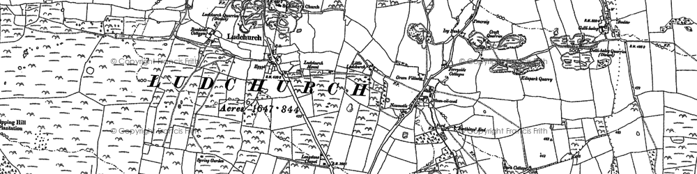 Old map of Westerton in 1887
