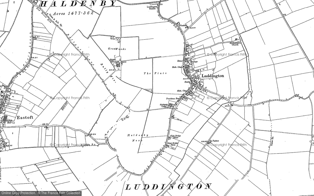 Old Map of Historic Map covering Adlingfleet Grange in 1904