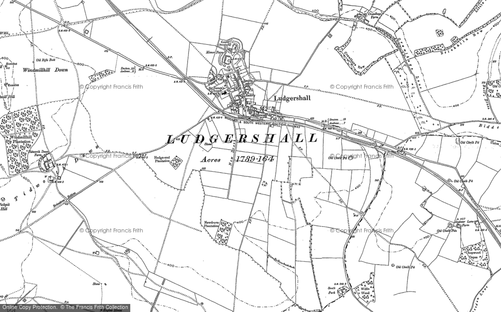 Old Map of Historic Map covering Windmillhill Down in 1899