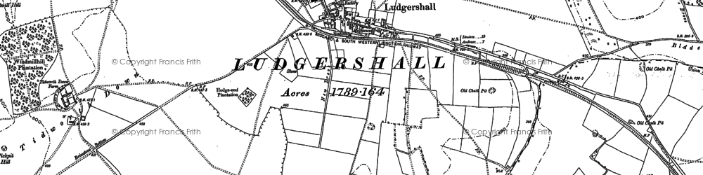 Old map of Widgerly Down in 1899