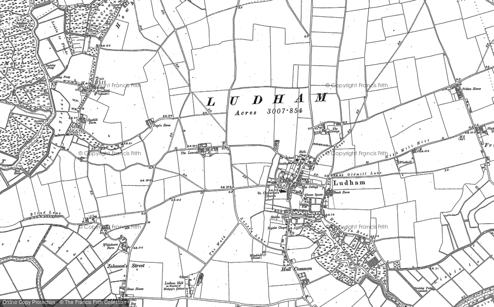 Map of Ludham, 1880