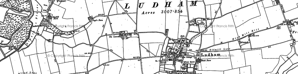 Old map of Ludham in 1880