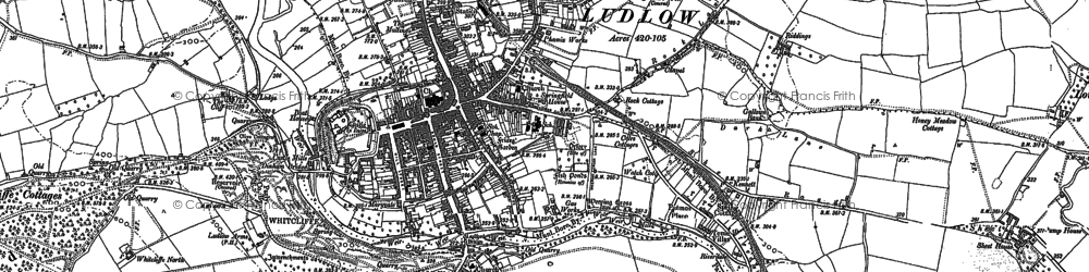 Old map of Ludlow in 1902