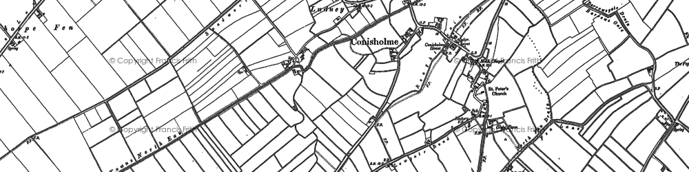 Old map of Austen Fen in 1887