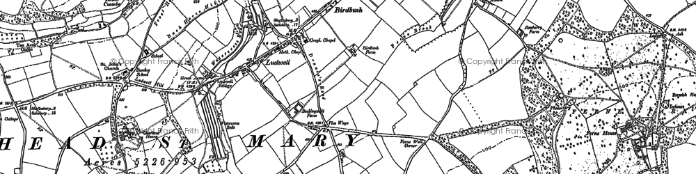 Old map of Ludwell in 1900