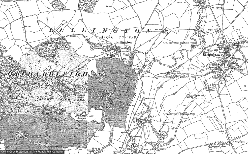 Old Map of Lullington, 1902 in 1902
