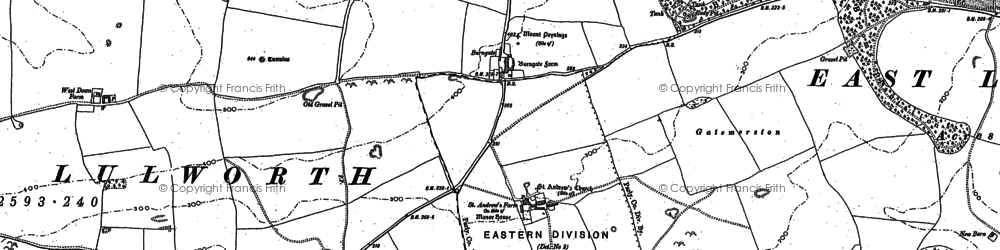 Old map of Lulworth Camp in 1900