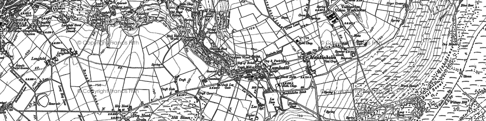 Old map of Lumbutts in 1905