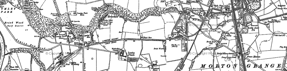 Old map of Lumley Thicks in 1895