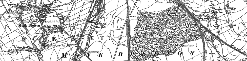 Old map of Lundwood in 1851