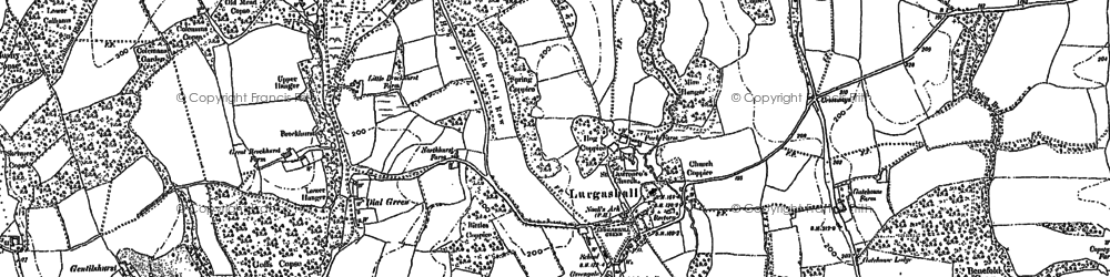Old map of Windfallwood Common in 1895