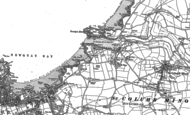 Old Map of Lusty Glaze, 1880 - 1906