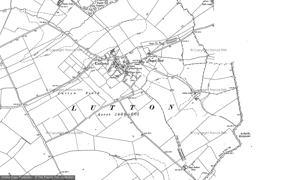 Old Map of Historic Map covering Ashton Wold in 1887