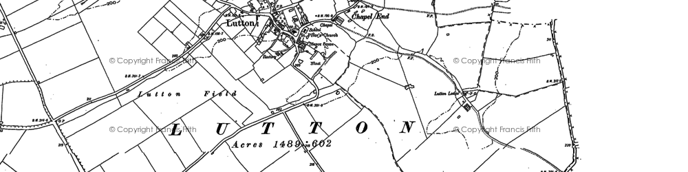 Old map of Ashton Wold in 1887
