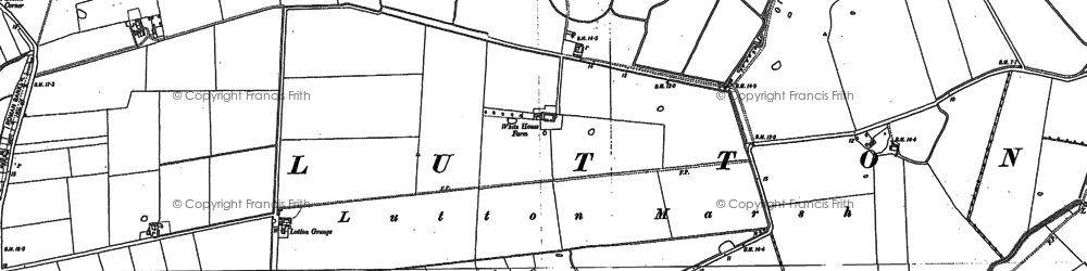 Old map of Leamlands in 1887
