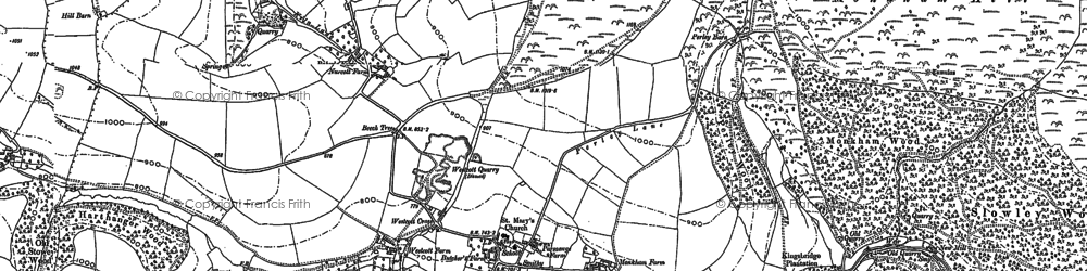 Old map of Withycombe Scruffets in 1887