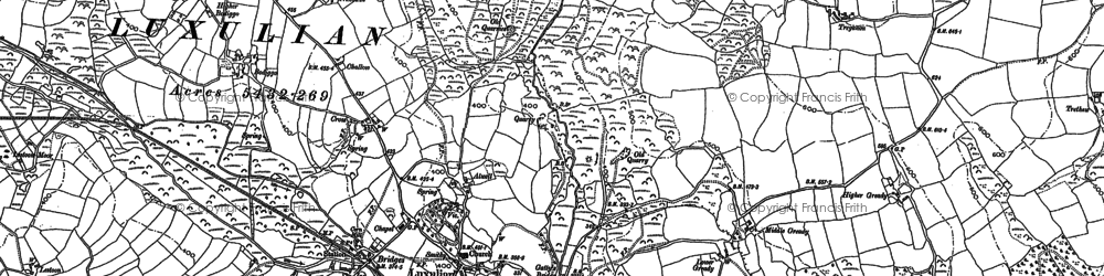 Old map of Luxulyan in 1881