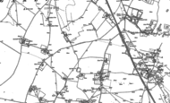 Old Map of Lydden, 1905