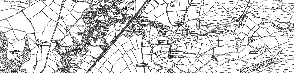 Old map of Yelland in 1883