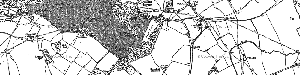 Old map of Lydiard Tregoze in 1899