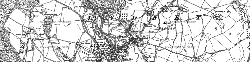 Old map of Allaston in 1879