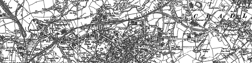 Old map of Lye in 1901