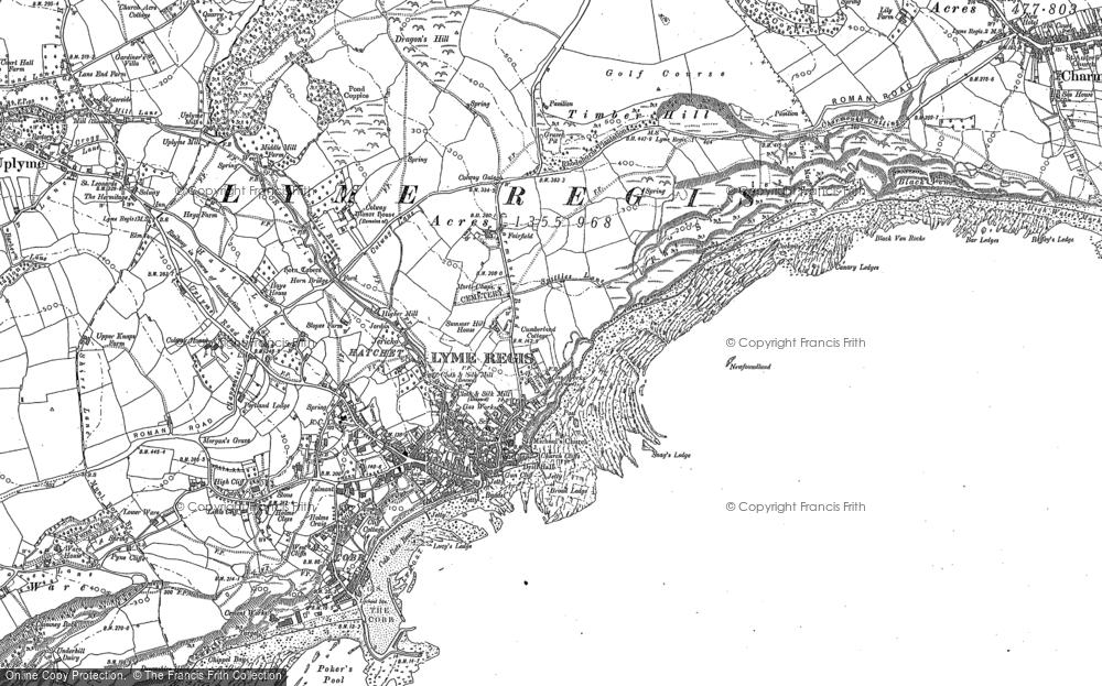 Map of Lyme Regis, 1901