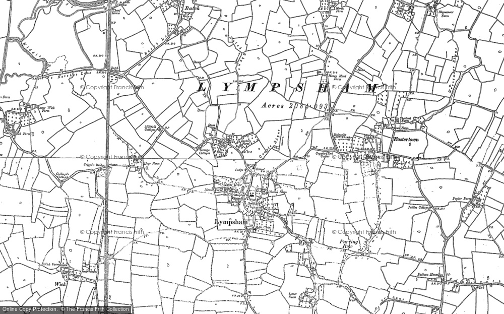 Old Map of Historic Map covering Wick in 1884