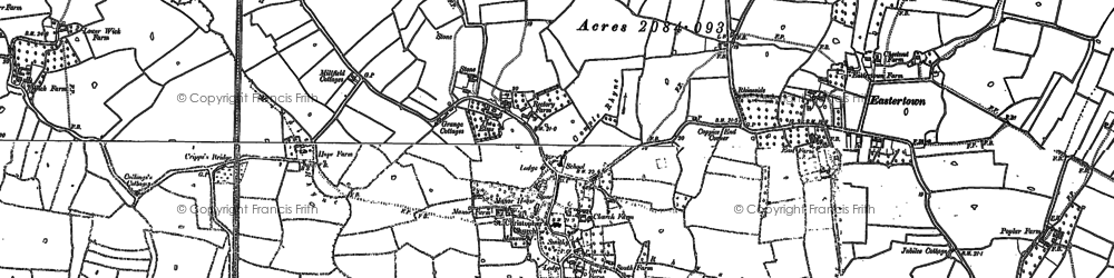 Old map of Wick in 1884