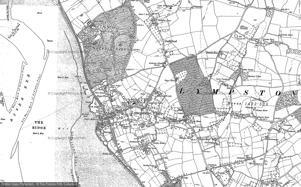 Old Map of Historic Map covering A-la-Ronde in 1888