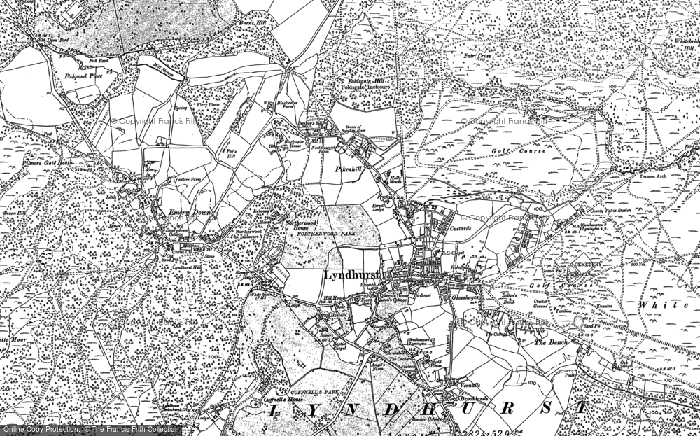 Old Map of Lyndhurst, 1895 - 1896 in 1895
