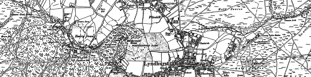 Old map of Lyndhurst in 1895