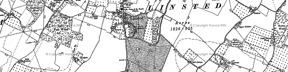 Old map of Aymers in 1896