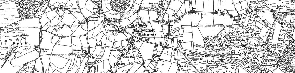 Old map of Lytchett Matravers in 1887