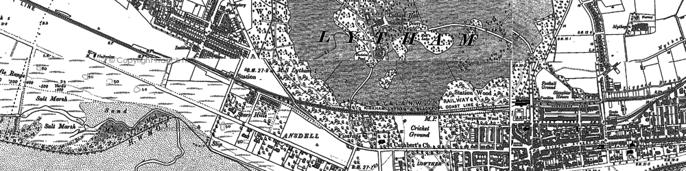 Old map of Banks Sands in 1891