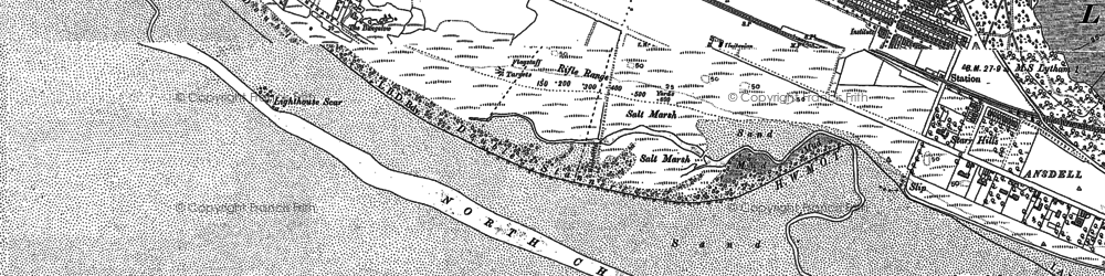 Old map of Fairhaven in 1891
