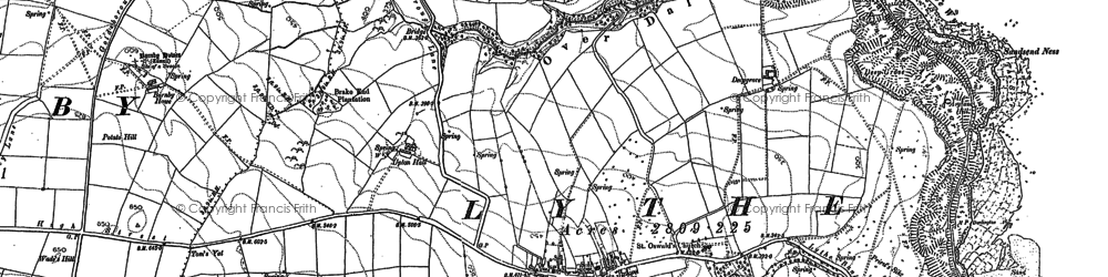 Old map of Lythe in 1893